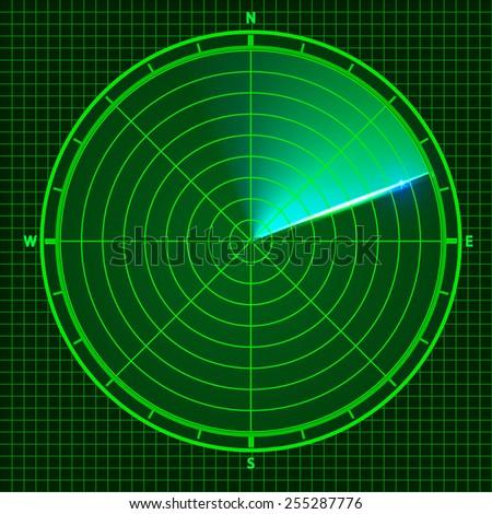 Fly radar. Vector illustration - stock vector