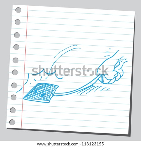 Fly Swatter Action Stock Vector 113123155 - Shutterstock