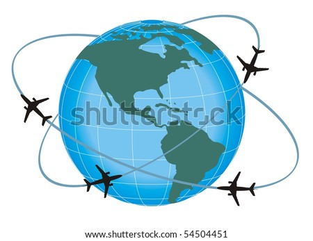 fly travel - stock vector