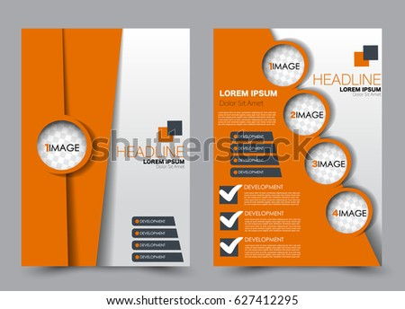 Flyer Brochure Template Annual Report Cover Stock Vector (Royalty ...