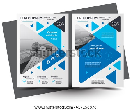 Flyer brochure design business flyer size stock vector for Creative brochure template