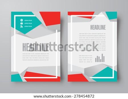 flyer brochure design template abstract frame polygonal - stock vector
