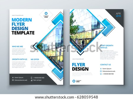 corporate business report cover brochure or flyer design leaflet presentation