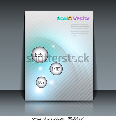 flyer design soft elegance vector background stock vector 90104554