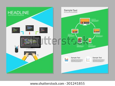 Flyer Design Template Information Technology Infographic – Technology Brochure Template
