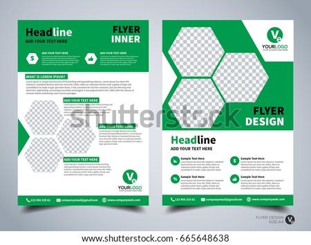 Flyer Design Template Vector Leaflet Design Stock Vector 665648638 ...