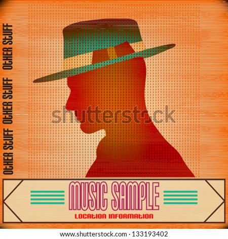 Flyer for an Indie Club or DJ Set, vector background illustration - stock vector