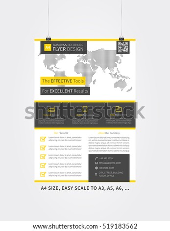 flyer layout vector illustration simple leaflet stock vector, Graphic Presentation Poster Template, Presentation templates