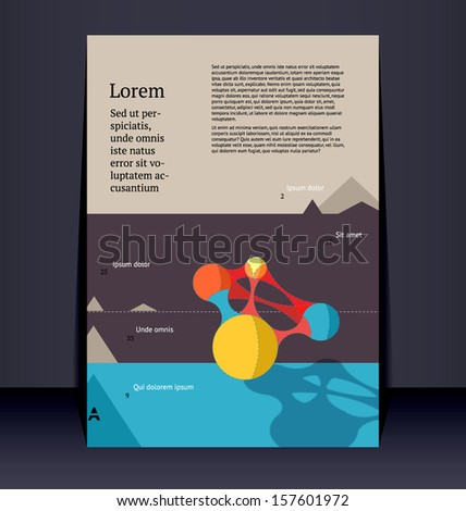 Flyer, leaflet, booklet layout. Editable design template. EPS10 vector, transparencies used.