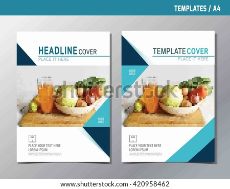 Flyer Leaflet Brochure Template A Size Stock Vector