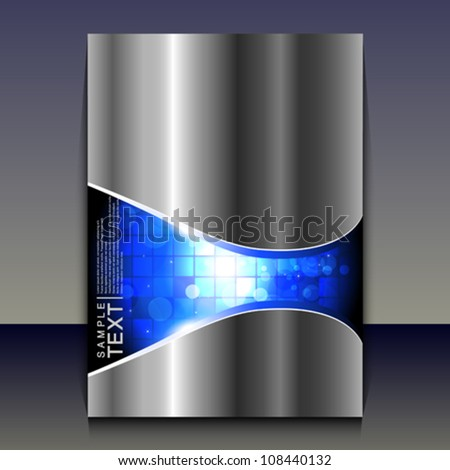 Flyer or brochure cover design  - abstract vector illustration. - stock vector