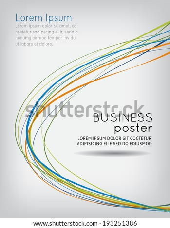Flyer or brochure template, abstract color design - stock vector