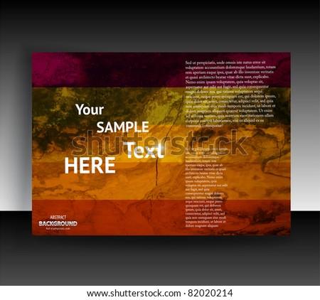 Flyer or cover design. Folder design content background. editable vector illustration - stock vector