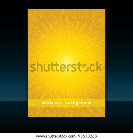 Flyer or Cover Design - Summer vector - stock vector