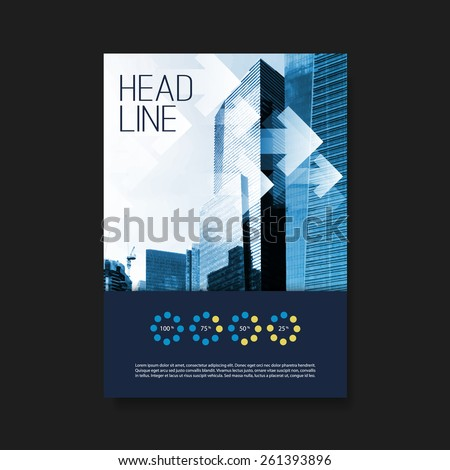 Flyer or Cover Design Template - Business, Corporate Identity - stock vector