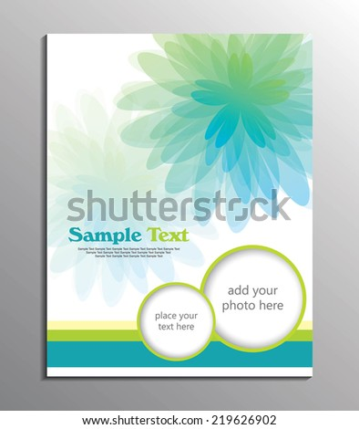 flyer or cover design / Vector background with pastel flowers - stock vector
