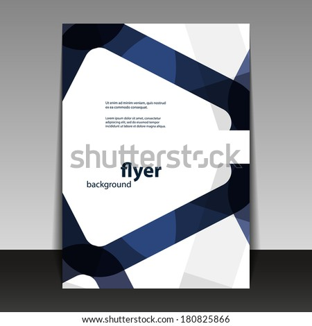 Flyer or Cover Design with Abstract Pattern - stock vector