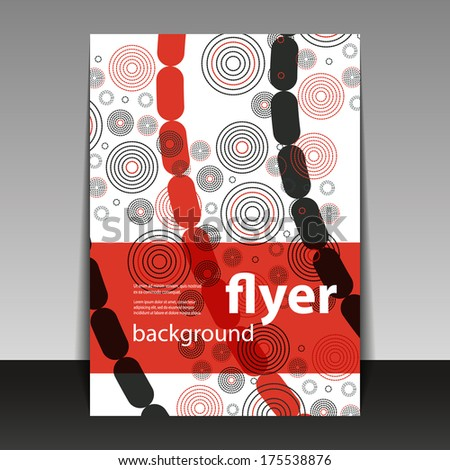 Flyer or Cover Design with Circles  - stock vector