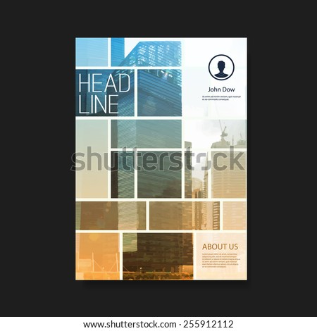 Flyer or Cover Design with Skyscrapers - stock vector
