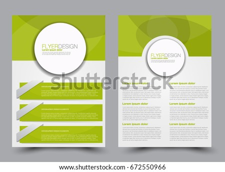 Vector Eco Flyer Poster Brochure Magazine Stock Vector
