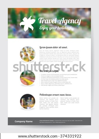 Flyer Template A 4 Size White Flower Stock Vector 374331922