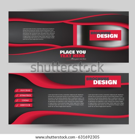 Flyer Template Banner Web Header Set Stock Vector