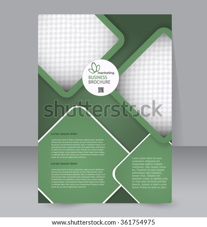Flyer Template Brochure Design Editable A 4 Stock Vector Hd Royalty