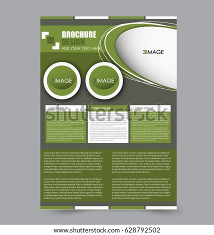 Flyer Design Template Vector Leaflet Design Stock Vector