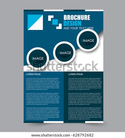 Flyer Template Business Brochure Editable A4 Stock Vector