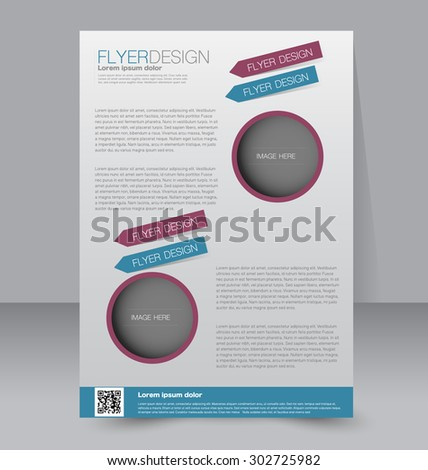 Flyer Template Business Brochure Editable A Stock Vector - A4 brochure template