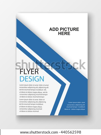 Flyer Template Business Education Presentation Website Stock Vector