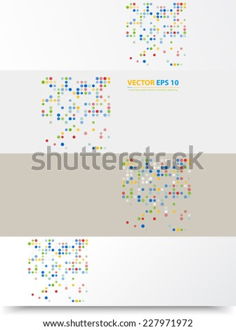 Flyer template header design. Banner design templates collection with bubbles - stock vector