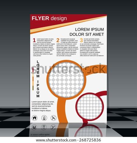 Flyer vector design. Brochure cover, booklet, poster template. - stock vector