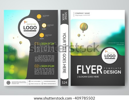 Flyers design template vector.Brochure report business magazine poster template.Cover book portfolio presentation and abstract gray layout design.Layout design on brochure background.Poster in a4 size - stock vector