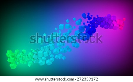 flying cubes background vector illustration eps 10 / cubes flying - stock vector