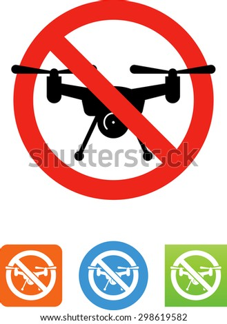 Flying drone with camera. Vector icons for video, mobile apps, Web sites and print projects. - stock vector