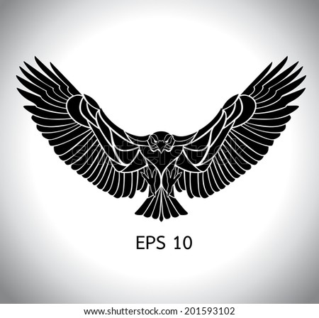 flying eagle vector - stock vector