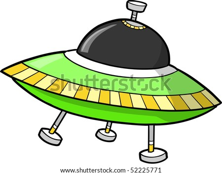 Flying Saucer UFO Vector illustration - stock vector