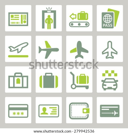 Flying tourism icons