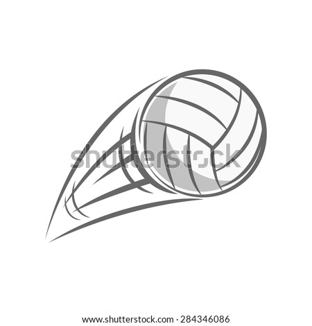 flying volley ball isolated on white background - stock vector