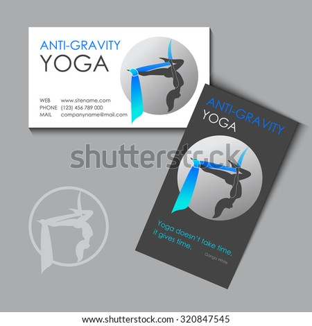 Flying yoga logo template antigravity yoga stock vector hd royalty flying yoga logo template anti gravity yoga business card design reheart Image collections