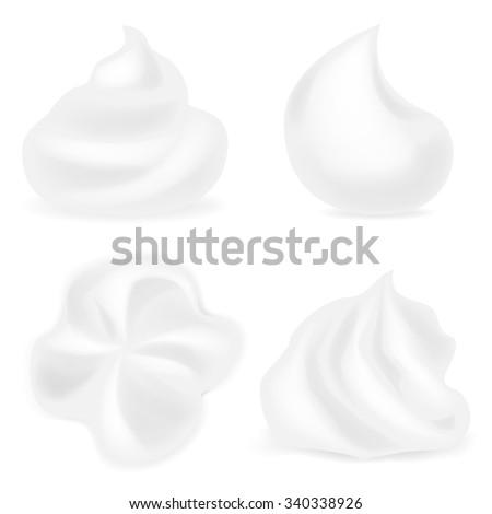 Foam cream - stock vector