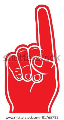 foam finger - stock vector