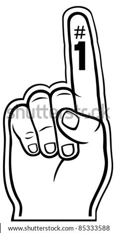 foam finger - stock vector