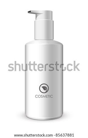 Foam Pump Bottle White: Vector Version - stock vector