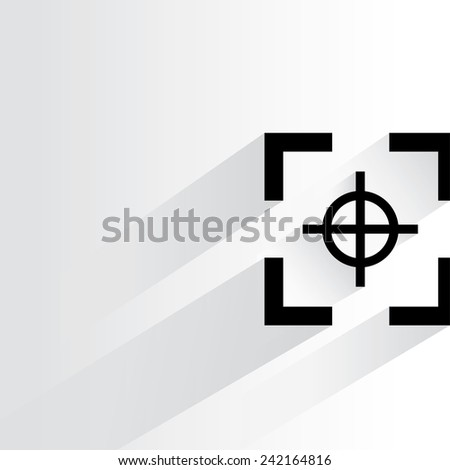 focus symbol on white background, flat and shadow theme - stock vector