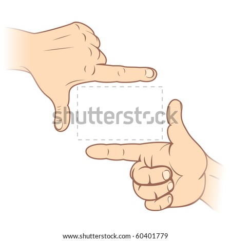 Focusing hands-fingerframe vector illustration - stock vector