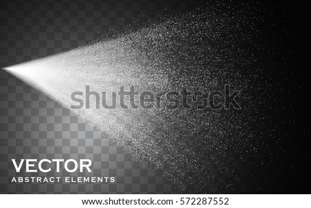 fog spray elements for effect uses, isolated transparent background, 3d illustration