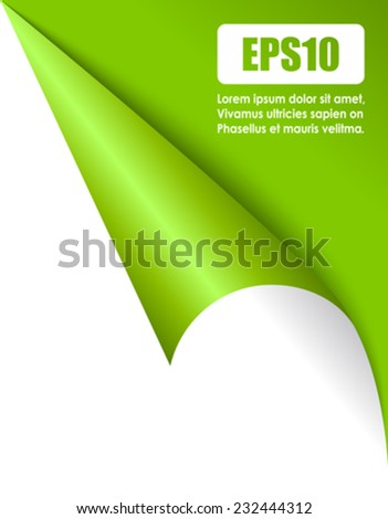 Fold page corner - stock vector