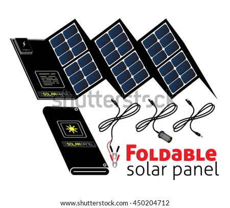 Foldable solar panel for backpackers,hikers,hunters,fishermen. For trips to the mountains and sea travel. Stand-alone power supply for charging mobile communication devices, photo and film equipment.